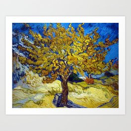 The Mulberry Tree in Autumn by Vincent van Gogh Art Print