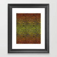 mosaic stripes Framed Art Print