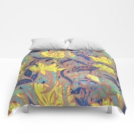 Painted Floral Pattern Comforters