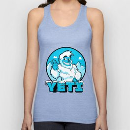 Smiling cartoon yeti Unisex Tank Top