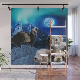 The Ferret Moon Wall Mural