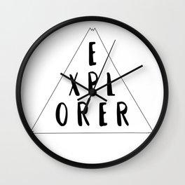 World Explorer Wall Clock