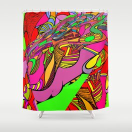 Crazytown. Shower Curtain