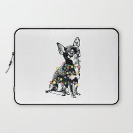 Chihuahua dog with colorful festoon Laptop Sleeve