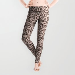 Pale Dogwood Black Lace Leggings
