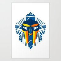 mf doom Art Prints featuring MF Doom Shirt by Argo Vector Art & Design