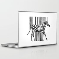 code Laptop & iPad Skins featuring Zebra Code by Lilian