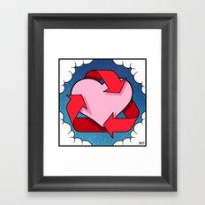 Love Is... Loops Framed Art Print