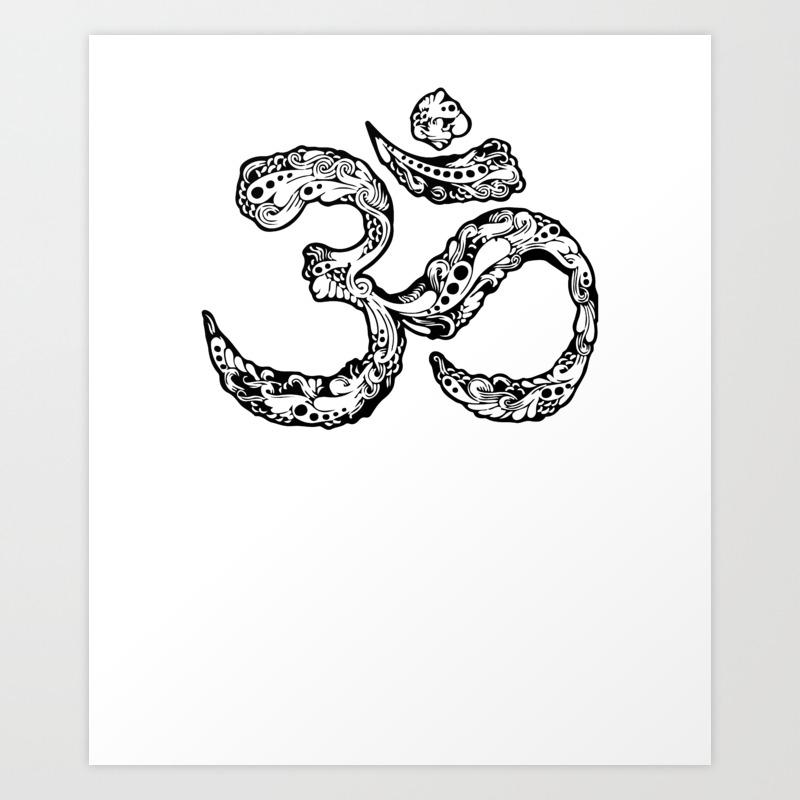 Om Symbol Zen Buddhist Lotus Yoga Meditation Ying Yang Shirt Art Print By Top10merch Society6