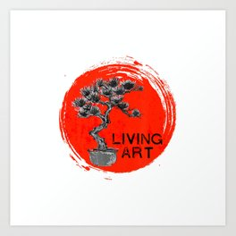 Bonsai Living Art Penjing Penzai Gardeners Gifts Bonzai T-Shirt Art Print