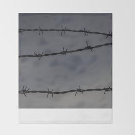 Barb Wire II Throw Blanket