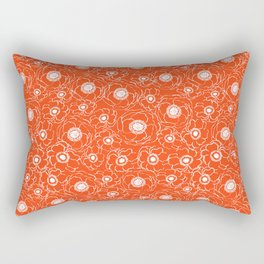 Florida fan gators university orange and blue team spirit football college sports Rectangular Pillow