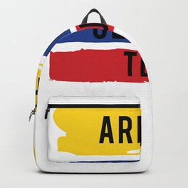 Funny Tejo print Gift Arepas Cerveza Tejo Colombia flag product Backpack