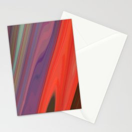 Splashes of Color (purple, corals, and gold) Stationery Cards