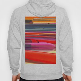 Abstract with colored lines Hoody