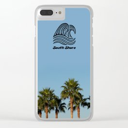 South Shore Palm Trees Design Clear iPhone Case