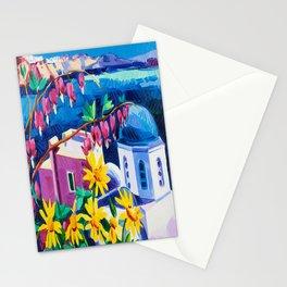Santorini churches Stationery Cards