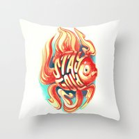 stay gold Throw Pillows featuring Stay Gold by Jared Yamahata