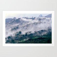 Foggy Mountain of Sa Pa in VIETNAM Art Print
