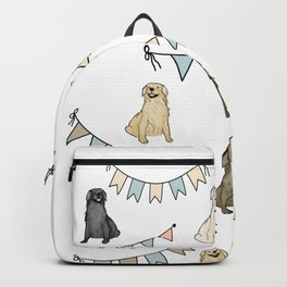 Golden Retrievers and Banners pattern Backpack