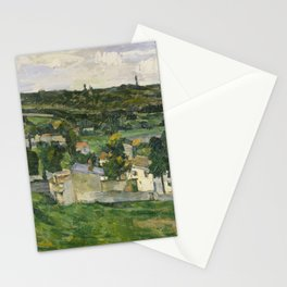 Stolen Art - View of Auvers-sur-Oise by Paul Cezanne Stationery Cards