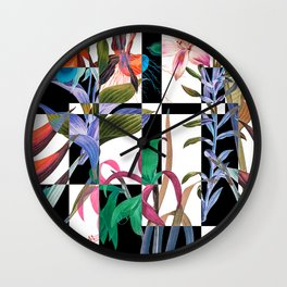 GEOMETRIC ABSTRACT PATTERN Wall Clock