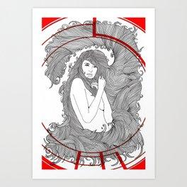 Target Nouveau. Art Print