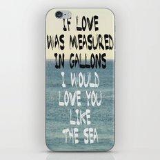 Like The Sea iPhone & iPod Skin