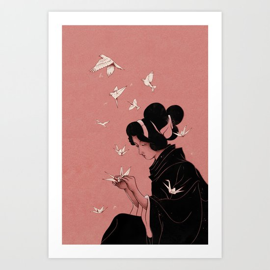 Becoming the Birds Art Print