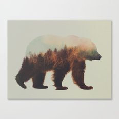 Brown bear flipped Canvas Print