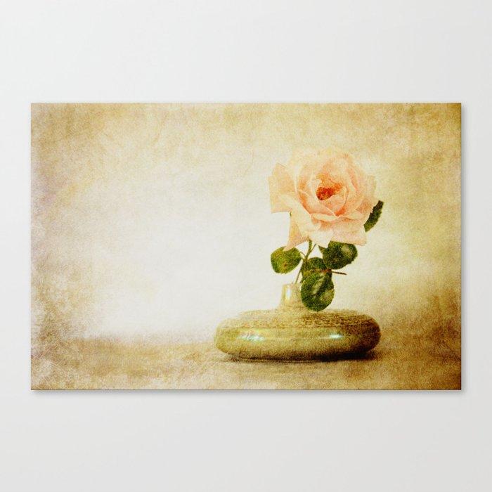 Vintage Rose  - JUSTART © Canvas Print