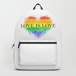 Love Is Love Rainbow Pride Heart 7 Minimalist Art Backpack