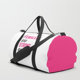 Females Strong Hell Gym Quote Duffle Bag