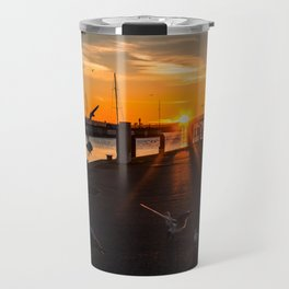 Harbor impressions in January Travel Mug