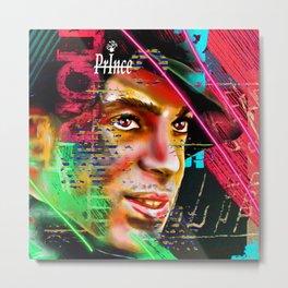 Prince Profile Painted Metal Print