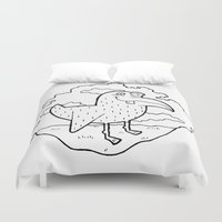 kevin russ Duvet Covers featuring Bird Stuff by Kevin Berquist by UCO Design