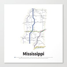 Highways of the USA – Mississippi Canvas Print