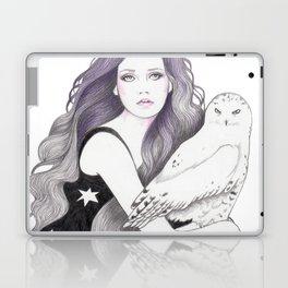 White Owl Laptop & iPad Skin