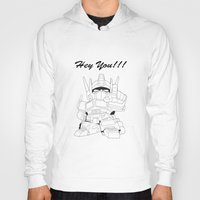 transformer Hoodies featuring Hey You !!! Transformer Transparent Design by Timeless-Id
