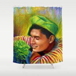 Alex Wassabi & The Tale of the Emerald Flower Shower Curtain