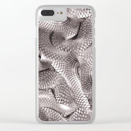Abstract snake skin pattern Clear iPhone Case