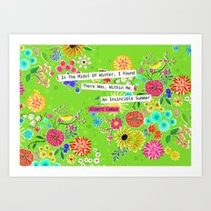 Invincible Summer Art Print