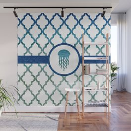 Jellyfish: Tropical Water Moroccan Pattern Wall Mural
