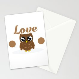Do you love owls? A cute I just freaking love owls t-shirt design just for you! Cute Brown Owl Stationery Cards