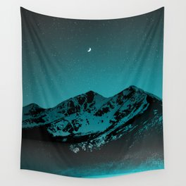 Mountains at night series II // Boulder Colorado Wall Tapestry