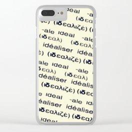 idéaliser Clear iPhone Case