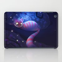 cheshire cat iPad Cases featuring Cheshire Cat by Chelsea Kenna
