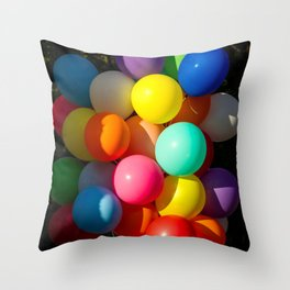 Colorful Toy Balloons Throw Pillow
