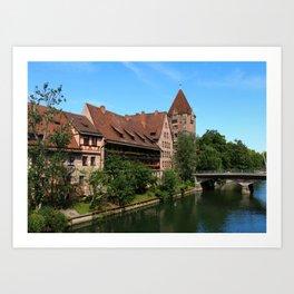 At The Pregnitz - Nuremberg Art Print