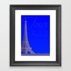 Tour De France Eiffel Tower Framed Art Print
